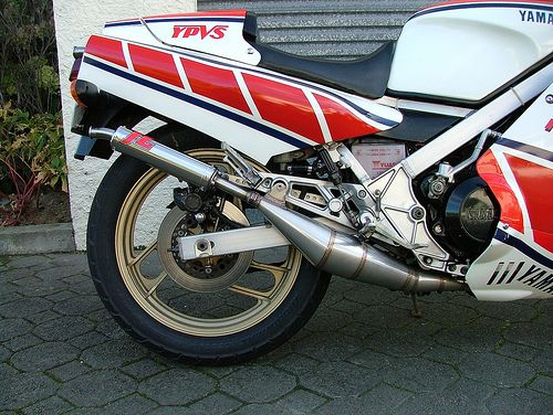 Yamaha RZ500 STAINLESS STEEL SIDE SIDE EXHAUSTS